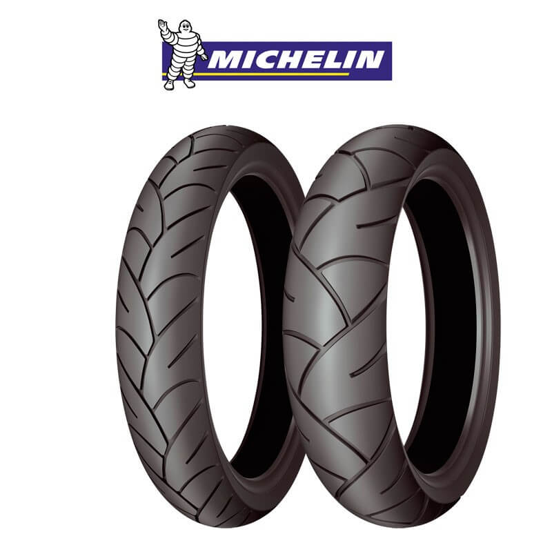 MICHELIN 100/80-16 Pilot Sporty 50P Tubeless (Brand of France/Made in Thailand) * Bánh trước Honda SH125i / 150i