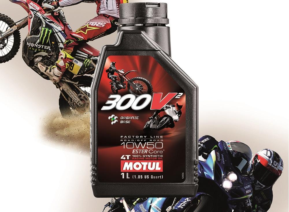 MOTUL 300V2 10W50 1L * Factory Line Road/Off Road ESTER Core 100% Synthetic (Made In France)