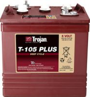 ẮC quy TROJAN 6V-225 Ah T105 Plus Deep-Cycle Battery (Made in USA)
