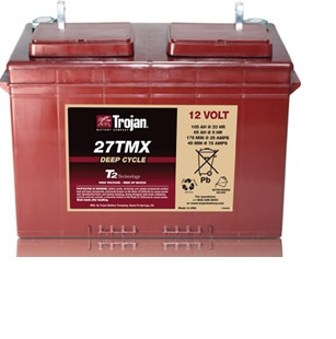Ắc quy TROJAN  12V-105 Ah 27TMX Deep-Cycle Battery (Made in USA)