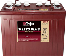 Ắc quy TROJAN  12V-150 Ah T1275 Deep-Cycle Battery (Made in USA)
