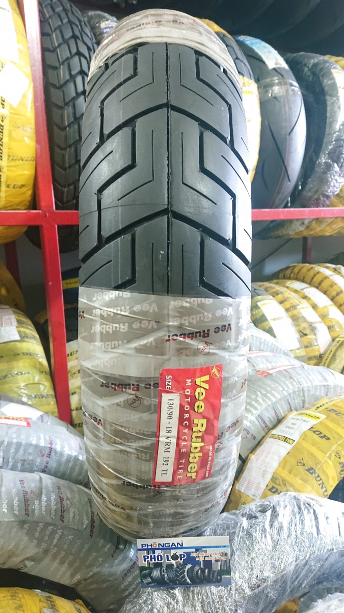 Vee Rubber 130/90-18 VRM 192 Tubeless (Made in Thailand)