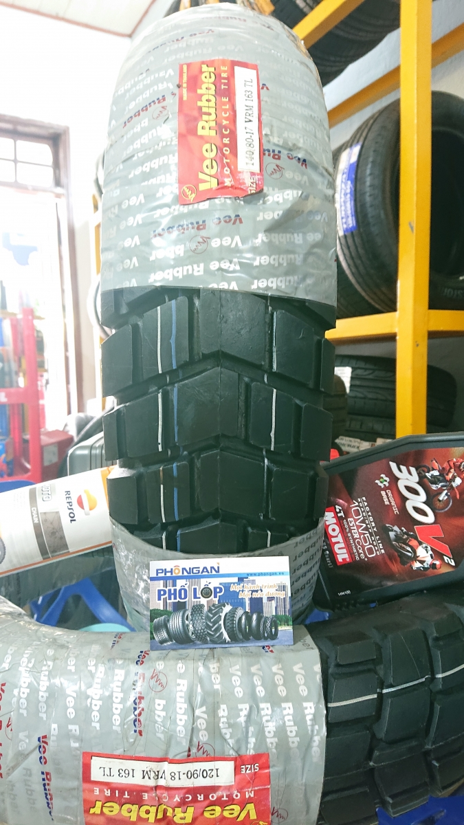 Vee Rubber 140/80-17 VRM 163 Tubeless (Made in Thailand)